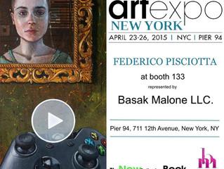 ARTEXPO NEW YORK 2015: FEDERICO PISCIOTTA UNICO ARTISTA ITALIANO RAPPRESENTATO DA BASAK MALONE AGENC