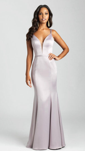 A soft satin creates an elegant finish to this sheath gown. Come to see the Allure 1683 at Madelange Laroche Bridal Design  Studio. Book your appointment here.