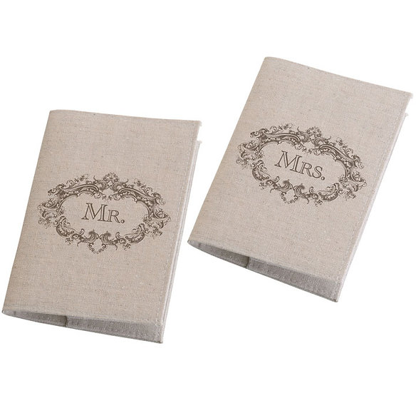 Mr. & Mrs. Rustic Passport Covers