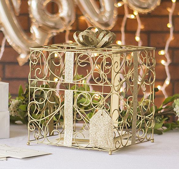 Gold Wedding Card Holder
