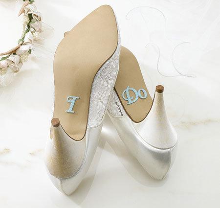 I Do Rhinestone Wedding Shoe Sticker