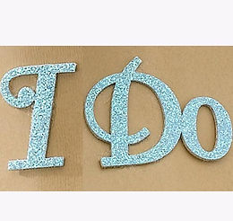 """I Do"" Something Blue Wedding Shoe Stickers"