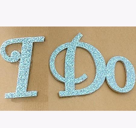 """""""I Do"""" Something Blue Wedding Shoe Stickers"""