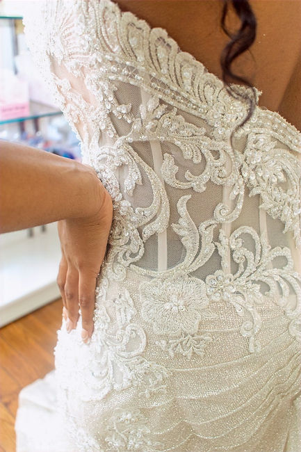 detailed gown