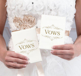 Ivory Wedding Vow Books