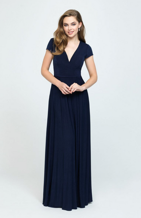 Soft, matte fabric creates a rich, draped effect along the skirt of this cap sleeved gown.Come to see the Allure 1608 at Madelange Laroche Bridal Studio. Book your appointment here.