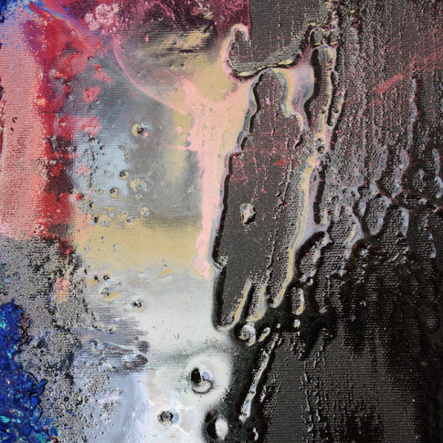 photo on canvas painted with resins