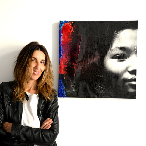 Giulia Gabetto with her work