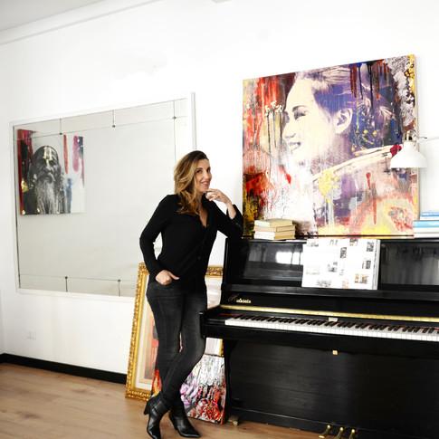Giulia Gabetto in her atelier