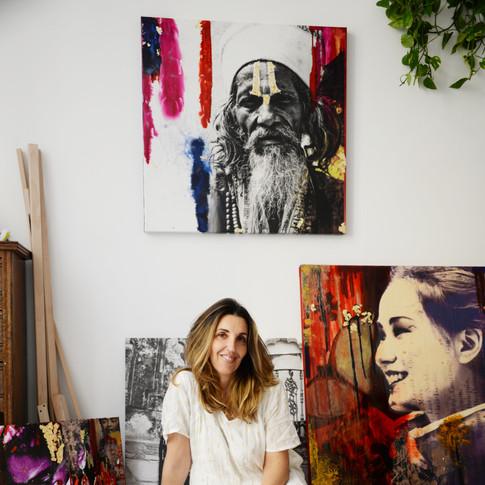 Giulia Gabetto in her studio