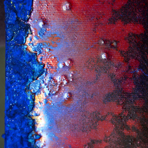 photo on canvas painted with resins , pastes and acrylics