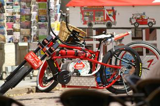 """Die Präsentation des """"Feuerwehrbikes"""" ein voll Erfolg"""