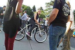 Probefahrten mit unseren Zeptar Bikes gab es natürlich reichlich...