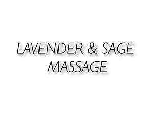 Lavender & Sage Massage