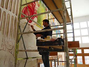 Fresco painting - Largest contemporary fresco Malta