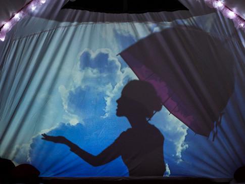 Inside, shadow theatre