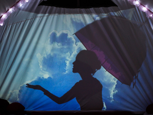 Inside, shadow theatre