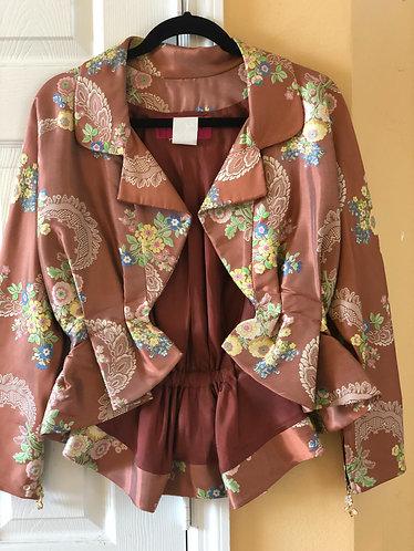 Christian Lacroix Satin Floral Jacket