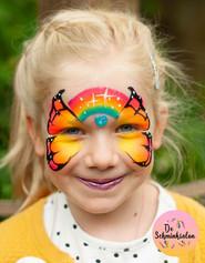 De Schminksalon, regenboog vlinder.JPG