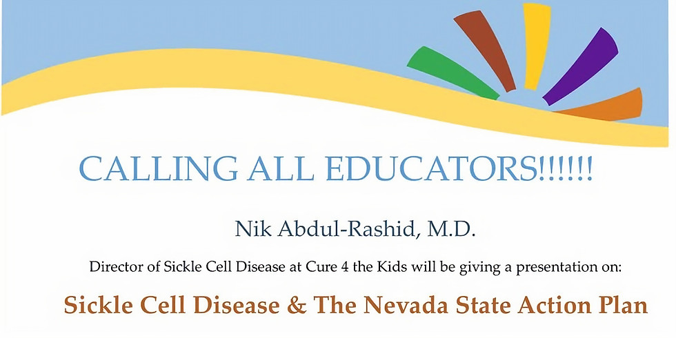 Sickle Cell Disease & The Nevada State Action Plan