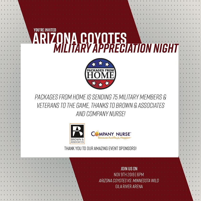 Arizona Coyotes Military Appreciation Night