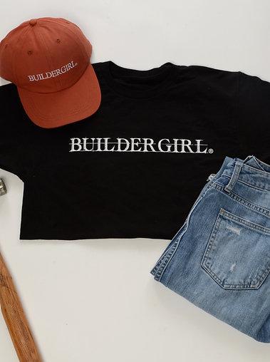 Unisex Black Buildergirl T-Shirt