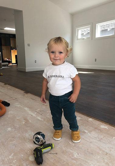 Children's White Buildergirl Shirt