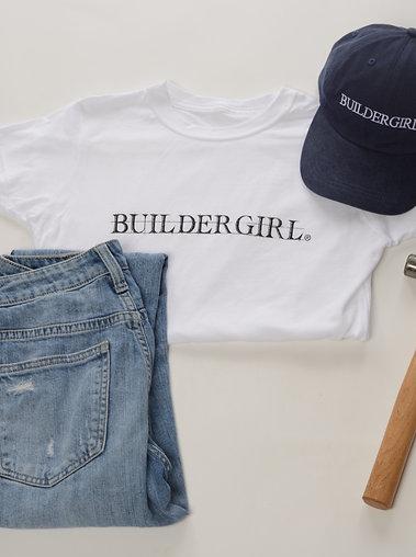 Women's White Buildergirl T-Shirt