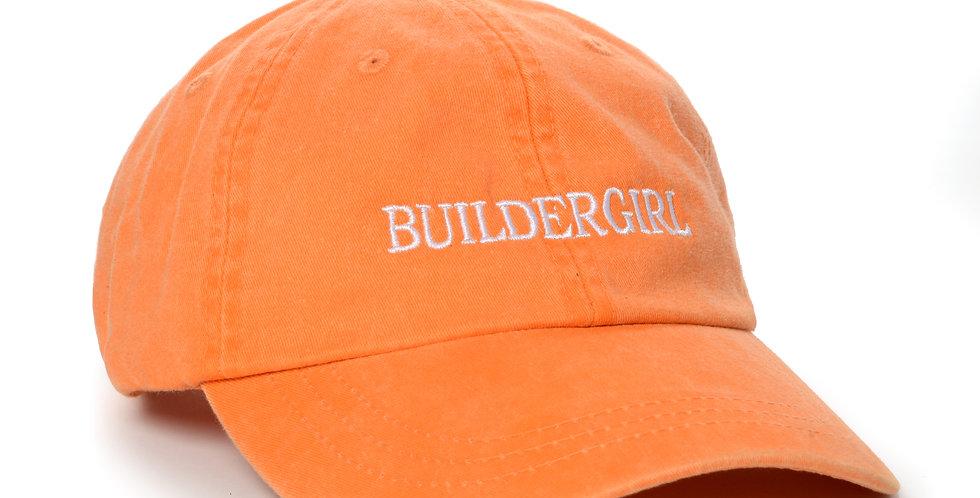 Orange Buildergirl Hat