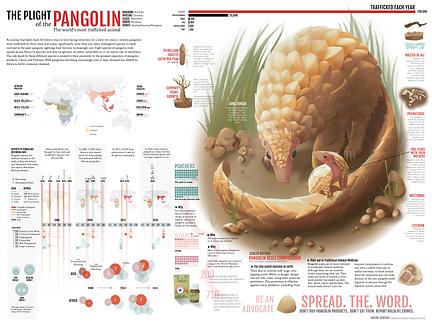 Pangolins Poster, Horizontal V9 [Recover