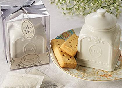 Victorian Porcelain Tea Caddy