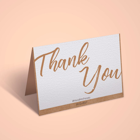 Thank You Card Design