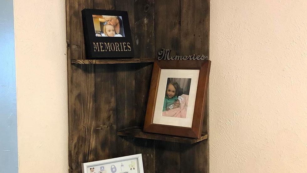 Gorgeous Corner Shelves