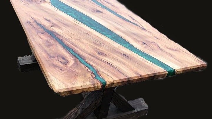 Gorgeous Live Edge Wood River Table
