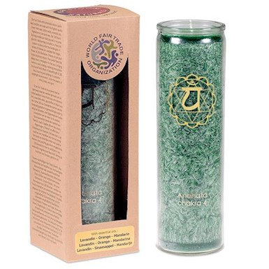 Aromatic Candle 4th Chakra with essential oils