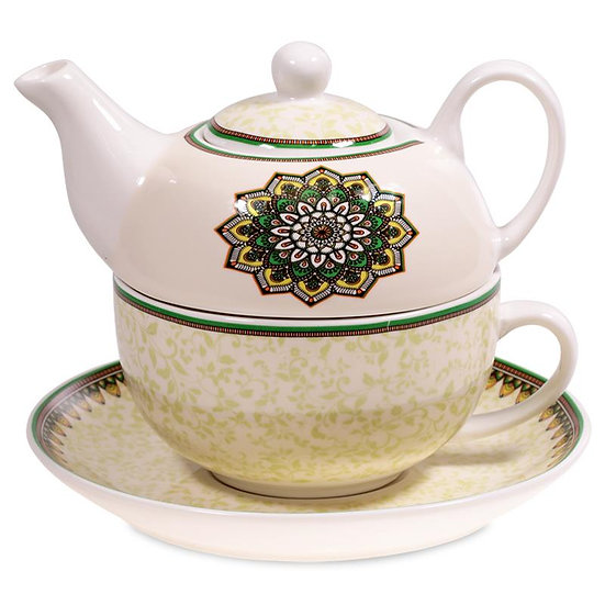 Tea for One Mandala green