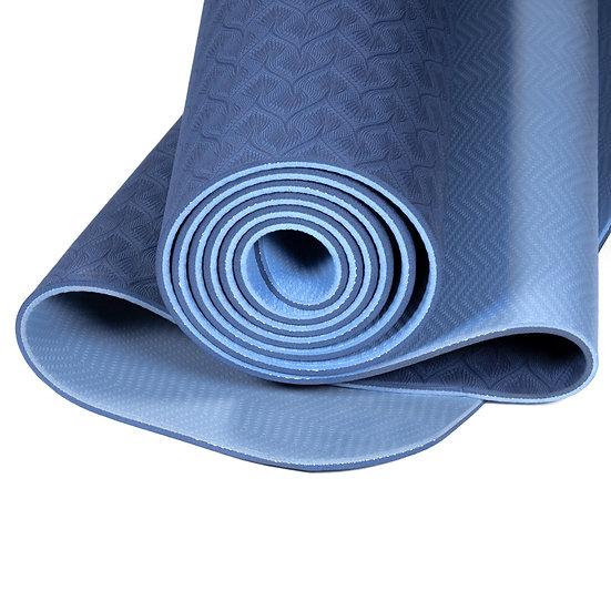 Yogi & Yogini Premium TPE Yoga Mat blue