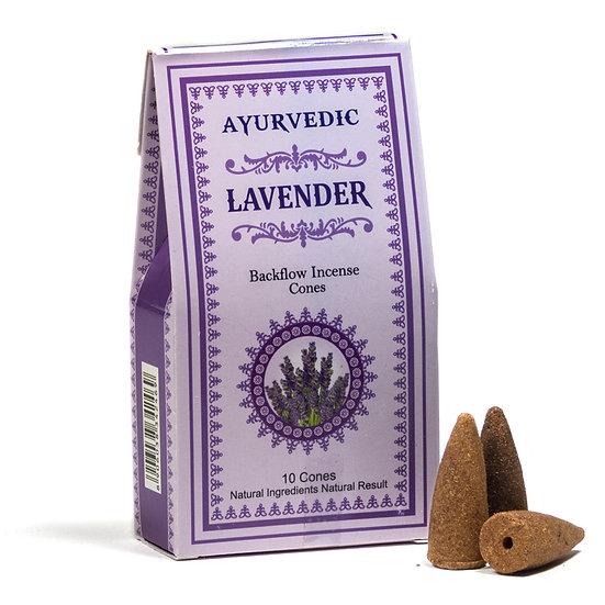 Ayurvedic Lavender backflow incense cones