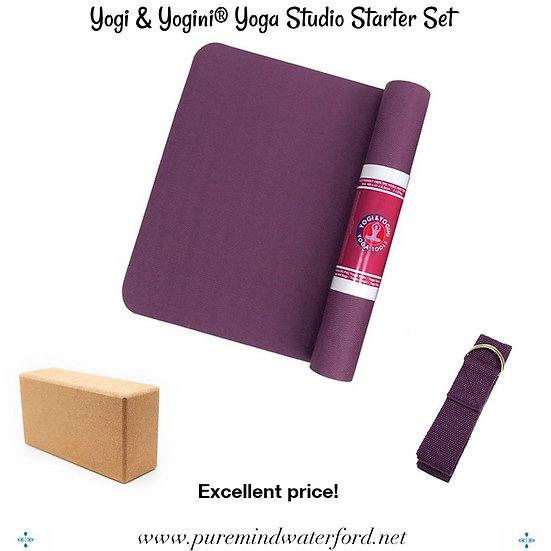 Yogi & Yogini® Yoga Studio Starter Set Purple