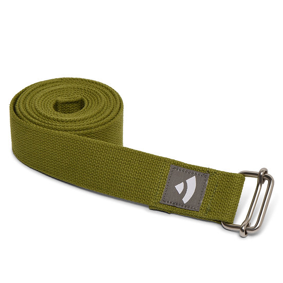 Yoga strap Bodhi with metal sliding buckle olive green