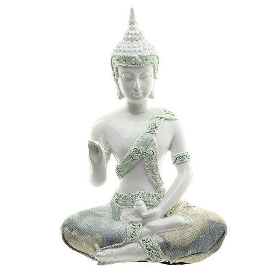 Thai Buddha White Gloss-Small