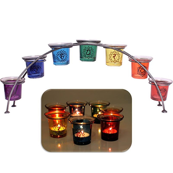 Candle lights in holder - 7 Chakras