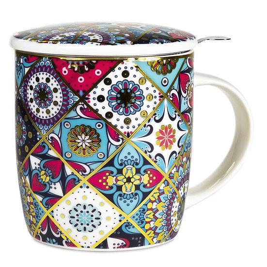 Gift box Tea Infuser Mug Oriental