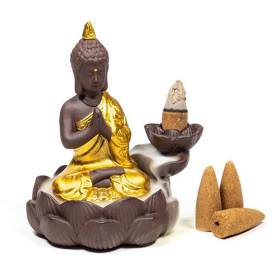 Backflow incence burner Buddha
