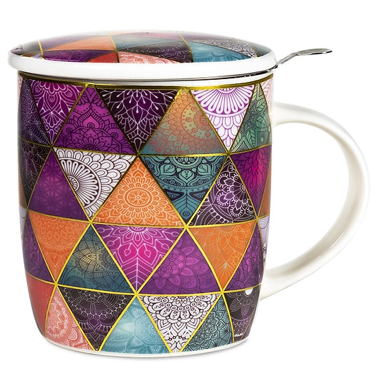 Gift box Tea Infuser Mug Patchwork