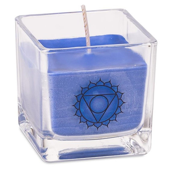 Eco Rapeseed wax scented candle 5th chakra