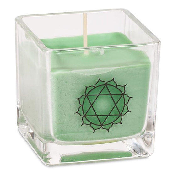 Eco Rapeseed wax scented candle 4th chakra