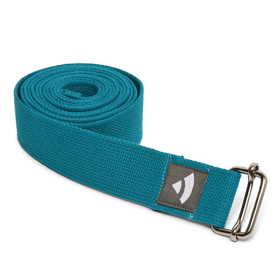Yoga strap Bodhi with metal sliding buckle turquoise