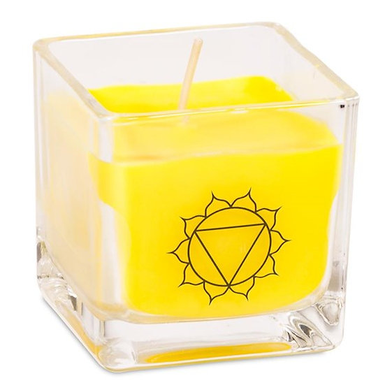 Eco Rapeseed wax scented candle 3rd chakra