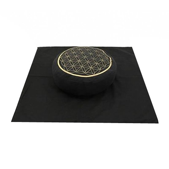 Meditation Set ''Flower of Life'' golden/black